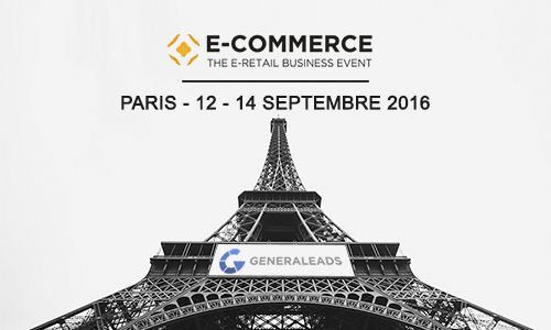 Generaleads au E-Commerce Paris du 12 au 14 septembre 2016